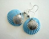 Dangle Beaded Earrings, Beaded Earring, Dangle Earrings, Dangle Earring, Shel Earring, Clay Earrings, Shell Earrings, Clay Earrings
