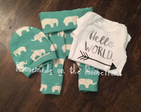 Items Similar To Hello World Newborn Coming Home Outfit