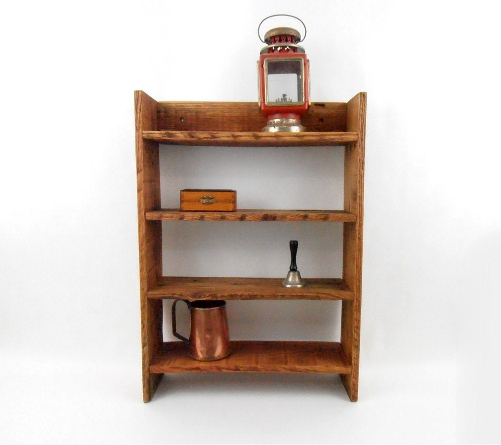 Inject Warmth Into Your Home With Reclaimed Wood Wall: Rustic Wood Shelf Pallet Wood Shelf Wood Curio Display