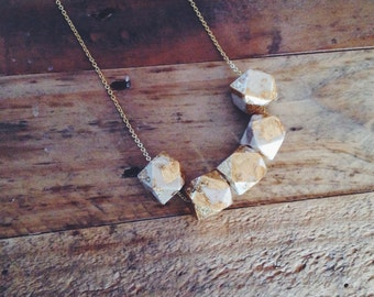 Geometric Gold Leaf Necklace