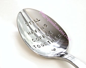Still having coffee together.  Couples coffee spoon. Serious coffee drinkers will understand how important good coffee is.