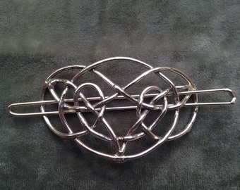 Oval Celtic Knot Barrette