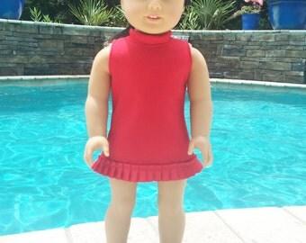 Doll Dress, 18 Inch Doll Dress, Red Dress