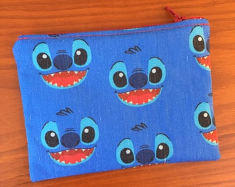 Stitch Inspired Coin Purse, Coin Pouch, Change Purse, Coin Pouch, Lilo and Stitch, Experiment 626