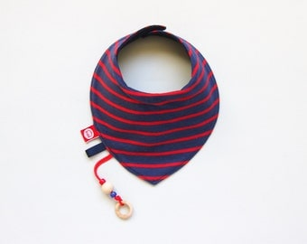 Baby Toddler Dribble Bib Bandana Baby Scarfbib Neckerchief Drool Bib with Teether