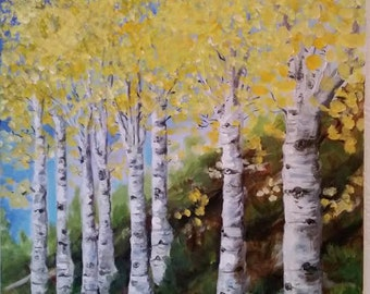 Aspen Trees in the Canyon