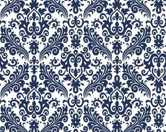 Blue Damask Fabric Riley Blake