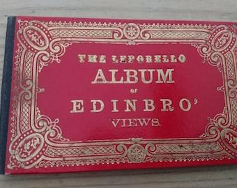 Antiquarian leporello album of Edinburgh views