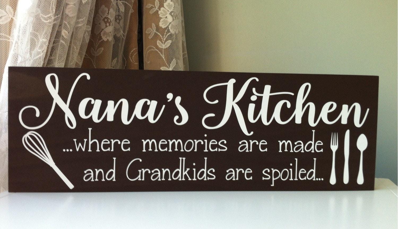 Personalized Kitchen Sign Nana Gift Gifts For Nana Nana