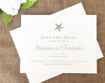 Starfish Save the Dates, Beach Save the Dates, Destination Wedding Save the Dates Cards, Beach Wedding Save the Dates
