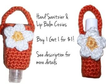 Chapstick Lip Balm Holder Diaper Bag Accessory Keychain Crochet Cozy Baby Shower Gift