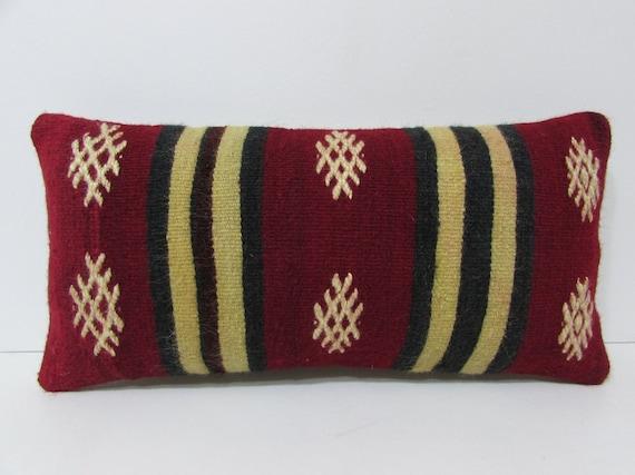 throw pillow lumbar kilim pillow rustic by DECOLICKILIMPILLOWS