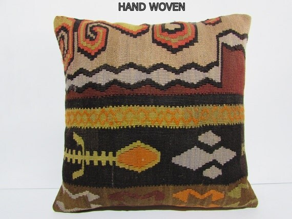Southwestern Pillow Covers 24 X 24 : 24x24 kilim pillow southwestern euro sham cushion cover large