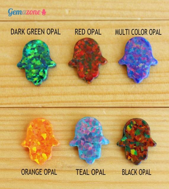 Hamsa pendant hamsa opal pendant hand of fatima charm multi te gusta este artculo aloadofball Choice Image