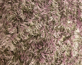 Purple Mongolian Multi Color Faux Fur Shag Fabric, Baby Photo Prop, Crafts,  Sewing Supplies Fashion or Costumes