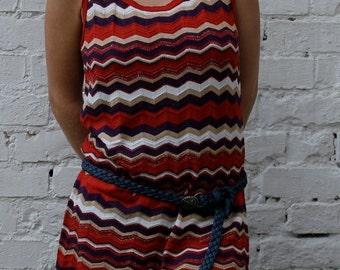 Sale 90's colorful zig zag dress