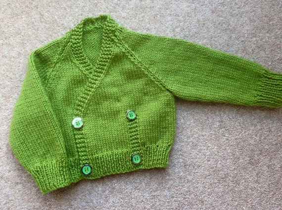 Crossover cardigan PDF knitting pattern in DK yarn