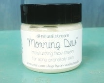 Moisturizing Face Cream for Acne Prone and Oily Skin, Fragrance Free, Essential Oil Free, Scent-free, All-natural Skincare, 1oz plastic jar
