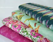 Joie de Vivre Fabric Bundle from Art Gallery by Bari J.  Pink Floral Boho Fabric.  100% cotton.  - Select Your Length