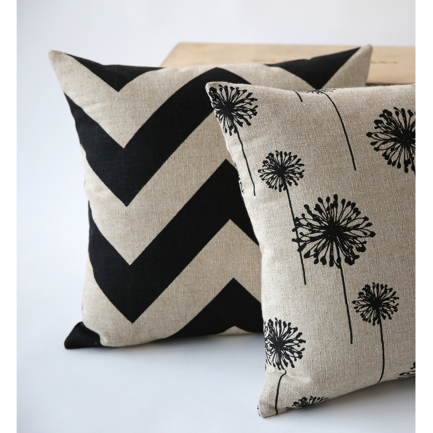 One Decorative Throw Zipper Pillow Cover Black by Pillomatic