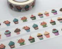 CupCake tape 10M yummy cupcake colorful cupcake washi tape muffin cake party decor sticker gorgeous cupcake decor kids chef planner gift