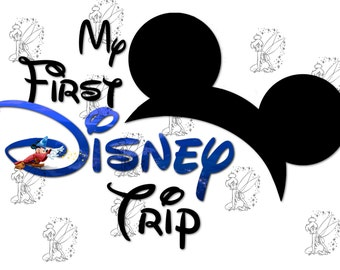 My First Disney Trip - DIY Iron On Transfer - Sorcerer Mickey