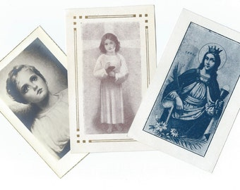 Vintage Catholic Holy Cards - Religious Cards with prayer - P07