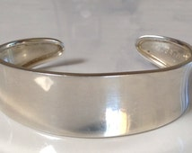 Contemporary Sterling Silver Cuff Bracelet Mexico Southwestern Jewelry 925