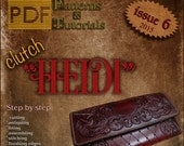 "PDF Patterns Caracoda Leathercraft issue 6 clutch ""Heidi"""