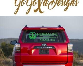 Custom Herbalife Car Package Decal