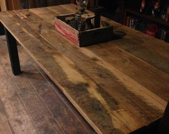 Reclaimed Oak Farm Table - OOAK