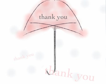 It's Raining Thank You's - Thank You Card