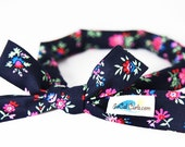SoCal Curls Hair Curling Tie in Navy Floral - As seen on the Today Show!