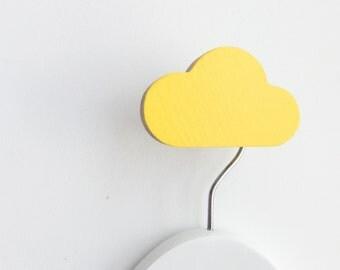 Wall Hook Cloud Yellow