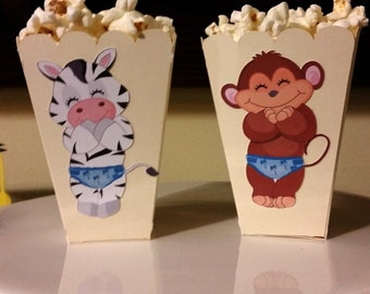 Popcorn boxes, popcorn boxes baby shower favor, baby shower favor