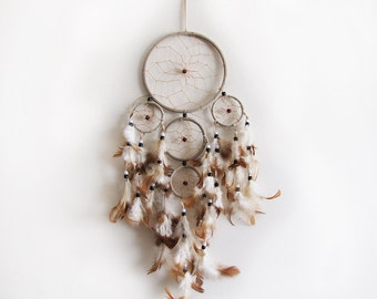 5 color Optional Dream Catcher / Five Circles-One Oversize and Four Little Circle/ Dream Catcher -Indian Symbols