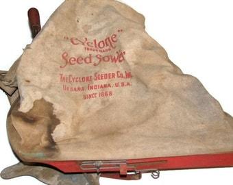 Vintage Grass Seeder, Cyclone Seeder, Seed Sower, Made In USA