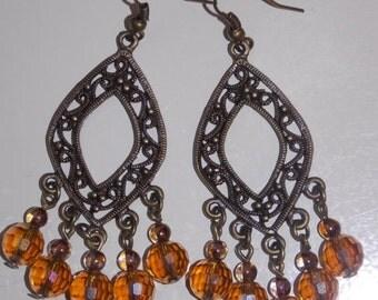 CLEARANCE 30%OFF Amber Dangle Earrings