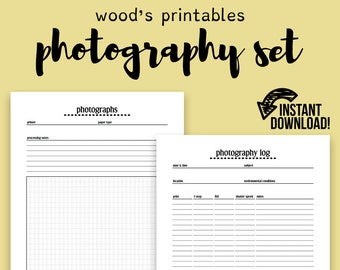 Photography Notebook PDF Printable; Photo Journal, Camera Journal, Camera Notebook, Photo Notebook, Photography Journal, Blank Journal