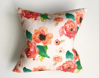 Pillow Cover Floral Dreams. Pillow Cover. Home Decor. Livingroom Decor. Modern Decor. Floral Pillow.