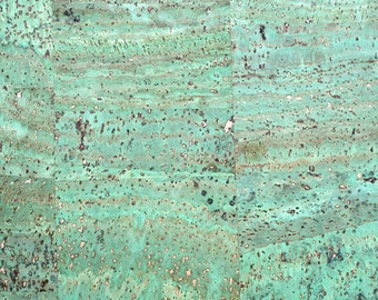 Natural Cork Fabric - Green