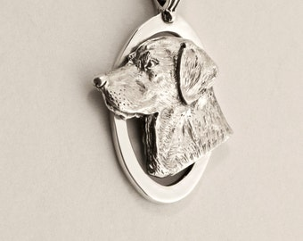 Handmade Labrador Dog Pendant in Sterling or Gold