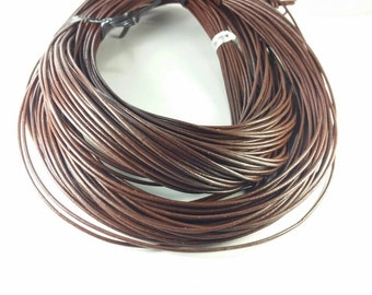 1.5mm Greek leather cord, brown, 4 feet