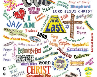 Who He Is - 85 names of God Poster, 18 x 24