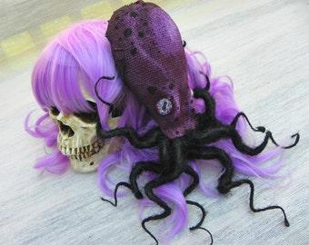 Octopus Hair Clip/ Dread Krakalaken Fascinator