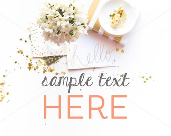 ON SALE Styled Stock Photography, Gold and White, Mock Up, Photography Stock, Image Styling, Desktop Mockup, Blogger, Stock30