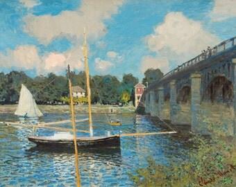 "Claude Monet : ""The Bridge at Argenteuil"" (1874) - Giclee Fine Art Print"