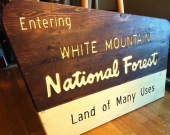 White Mountains National Forest Entrance Sign