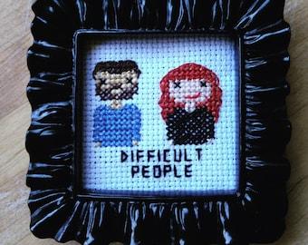 Difficult People Cross Stitch Portrait