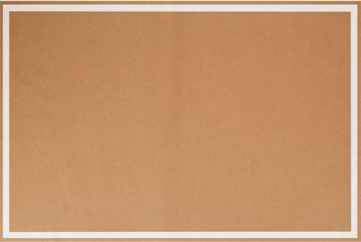 144 Paper Placemats Trendy Kraft Paper Brown With White